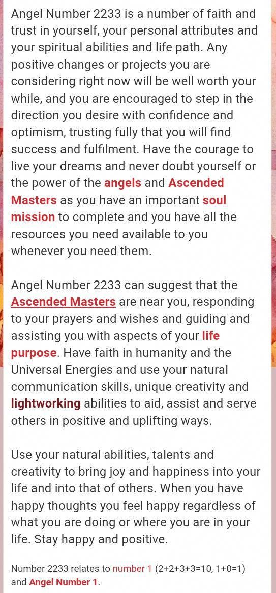 2233 Angel Number Numerologychart Charting Numerology