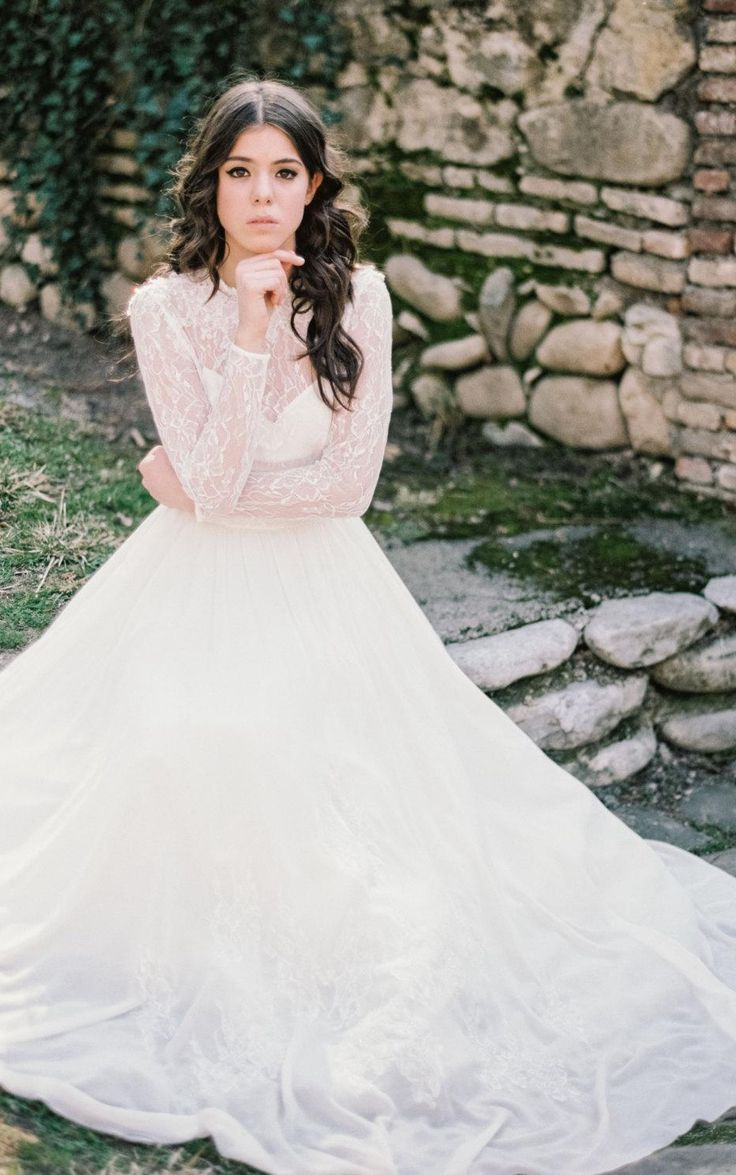 Wedding dresses with long sleeves   best Long Sleeve Wedding Dresses images on Pinterest
