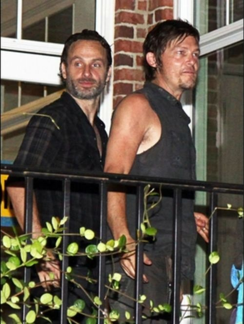 Andrew Lincoln and Norman Reedus - TWD