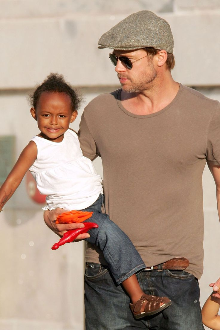 Brad Pitt. See 37 other hot celebrity dads with their adorable kids.