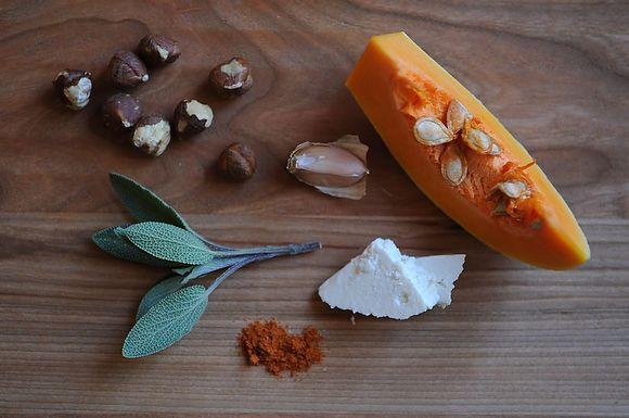 ROASTED Caramelized Butternut Squash Wedges with a Sage Hazelnut Pesto