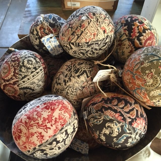 Made from old Sari's, these recycled sari deco balls are a beautiful addition to your home. Cats love them too! #recycledsari #inspiration #ecofriendly #sustainableliving #mulbury