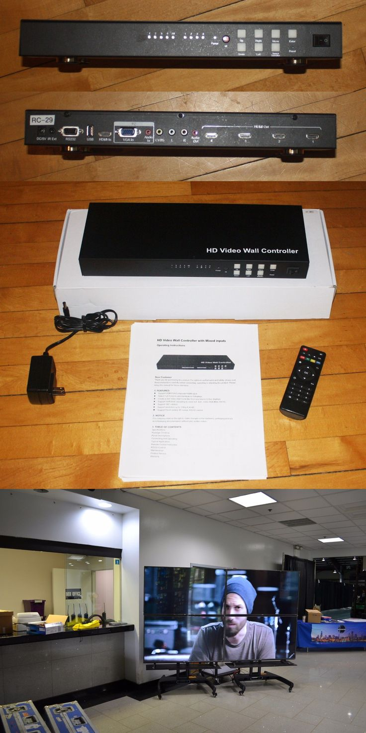Other TV Video and Audio Parts: 2X2 Video Wall Controller, Can Daisy-Chain To 3X3 And Larger Hdmi Outputs, Mult BUY IT NOW ONLY: $400.0