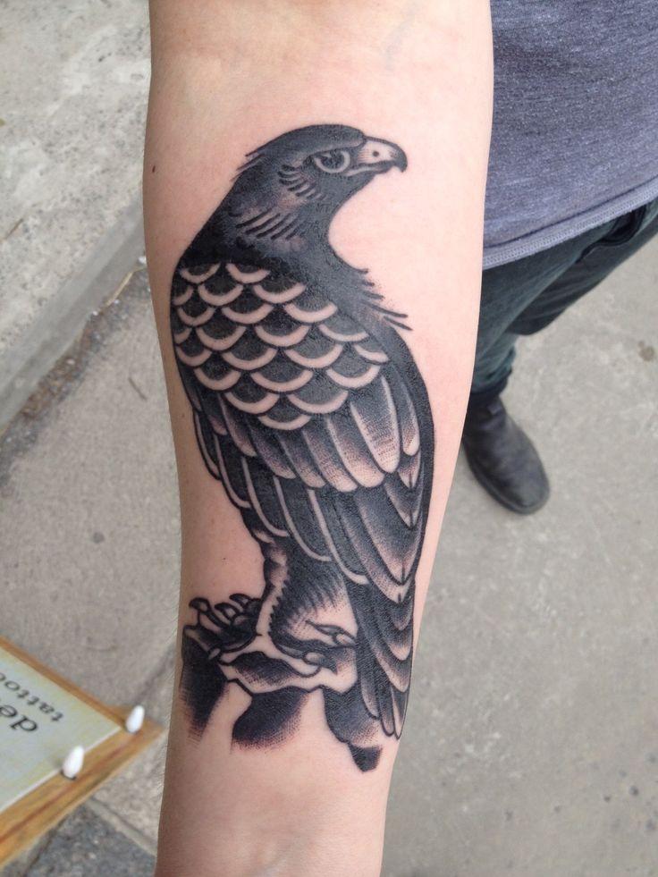 Traditional Hawk Tattoo By Jessi Preston Tattoo