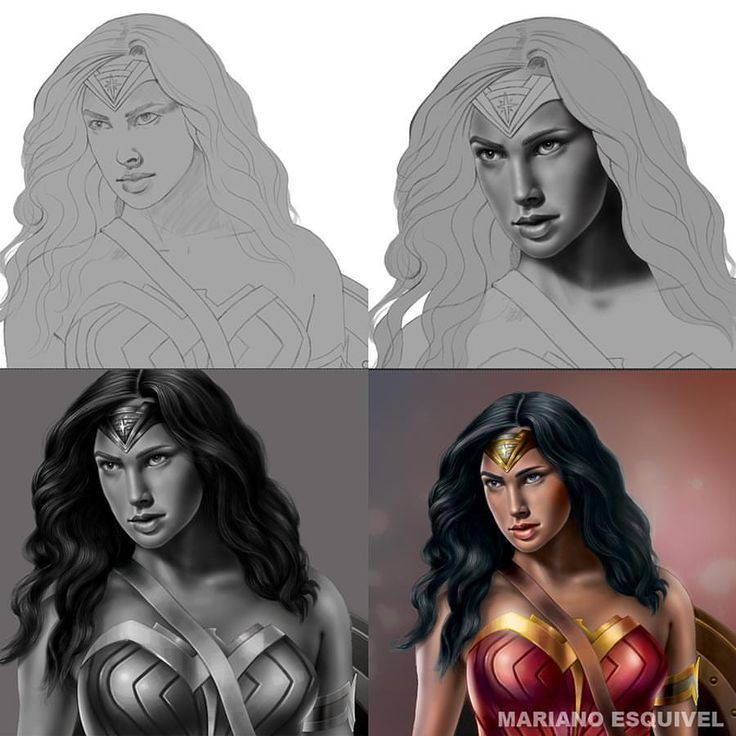 Wonder Woman (proceso). Tableta Wacom