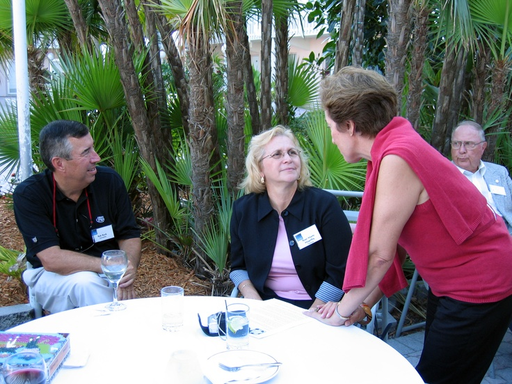 Randy Avon, Vice President of Sister Cities International, Rose-Marie Magriby of Tampa Sister Cities & Maria del Carmen Meckman at the Florida Sister Cities Conference at the Helmsley Sandcastle on Lido Key in Sarasota in 2005
