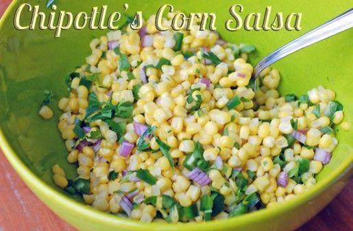 Copycat Recipe: Chipotle's Corn Salsa and Mild Salsa