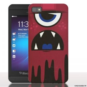 Coque de Blackberry z 10 Monster Rouge. #Monster #BlackBerry #Z10 #Phonecase