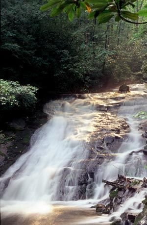 Indian Creek Falls - An easy 1.6 mile roundtrip hike will allow you to enjoy two beautiful waterfalls in the Deep Creek area.