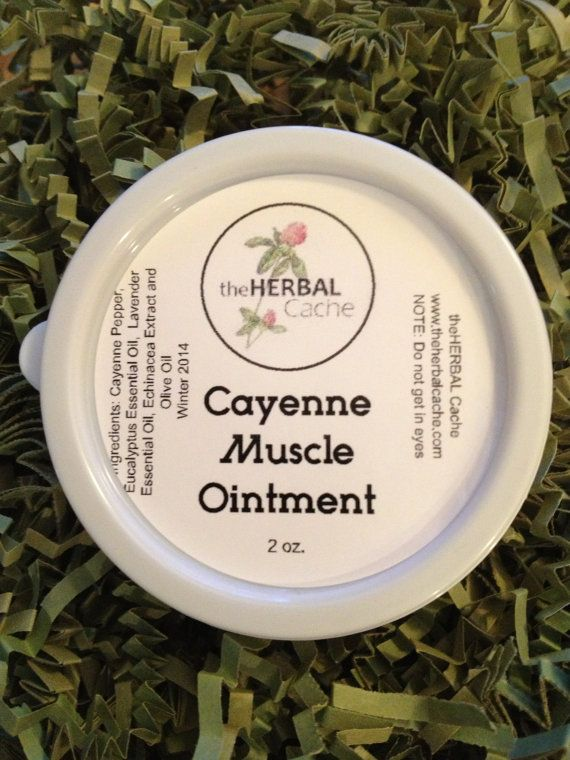 Cayenne Muscle Ointment  2oz | balm | salve | arthritis | herbal | natural | sore muscle | inflammation | aches