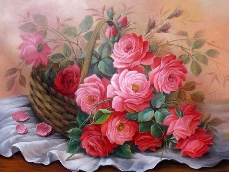 129 melhores imagens sobre pintura em tela douglas - Pintura para decoupage ...