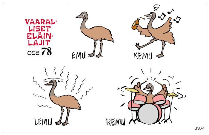 Emu https://nensarjakuvat.wordpress.com/elainsanasto/