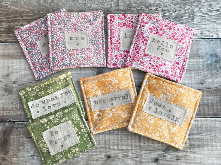 Lovely Liberty coasters, which one is your favourite? #etsyseller #etsyshop #homebirdmakes #shopsmall #smallbusiness #gifts #handmade #prettygifts