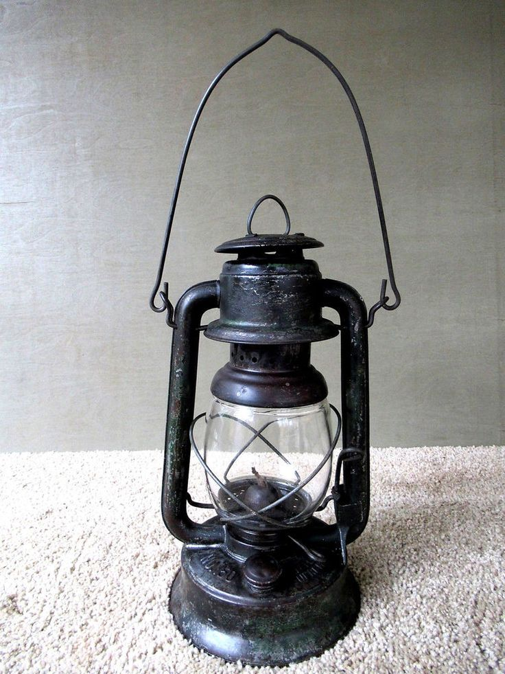 Antique Lantern EMBURY LITTLE SUPREME No 150 Primitive Kerosene Oil Barn Lamp NY