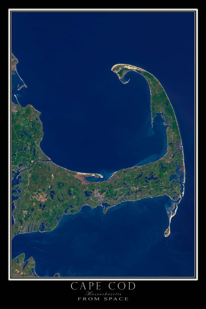 Cape Cod Massachusetts Satellite Poster Map