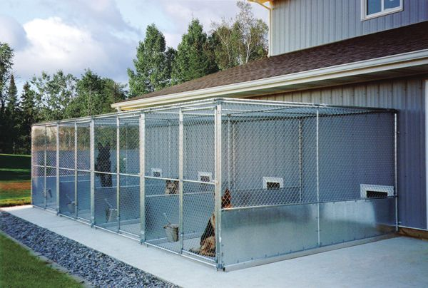 boarding kennel designs and layouts | We built our three-stall run ...