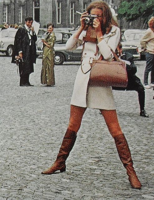 1960s Mod Woman Fashion Photo Smoking Go Go Boots Vintage Womenswear by Christian Montone, via Flickr