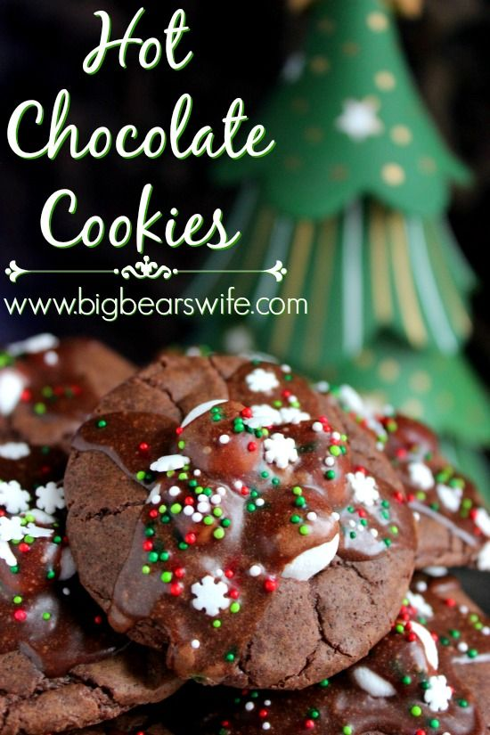 Hot Chocolate Cookies. Seriously! This might be my new favorite cookie! I just can't get enough of them!
