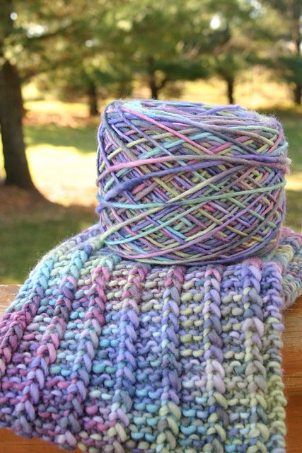 loved making this scarf..the colors are SO yummy and the malabrigo is so soft