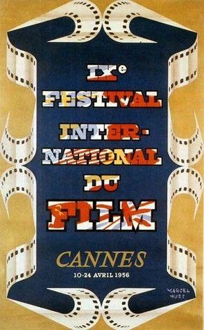 Festival de Cannes 1956 -  illustration by Marcel Huet