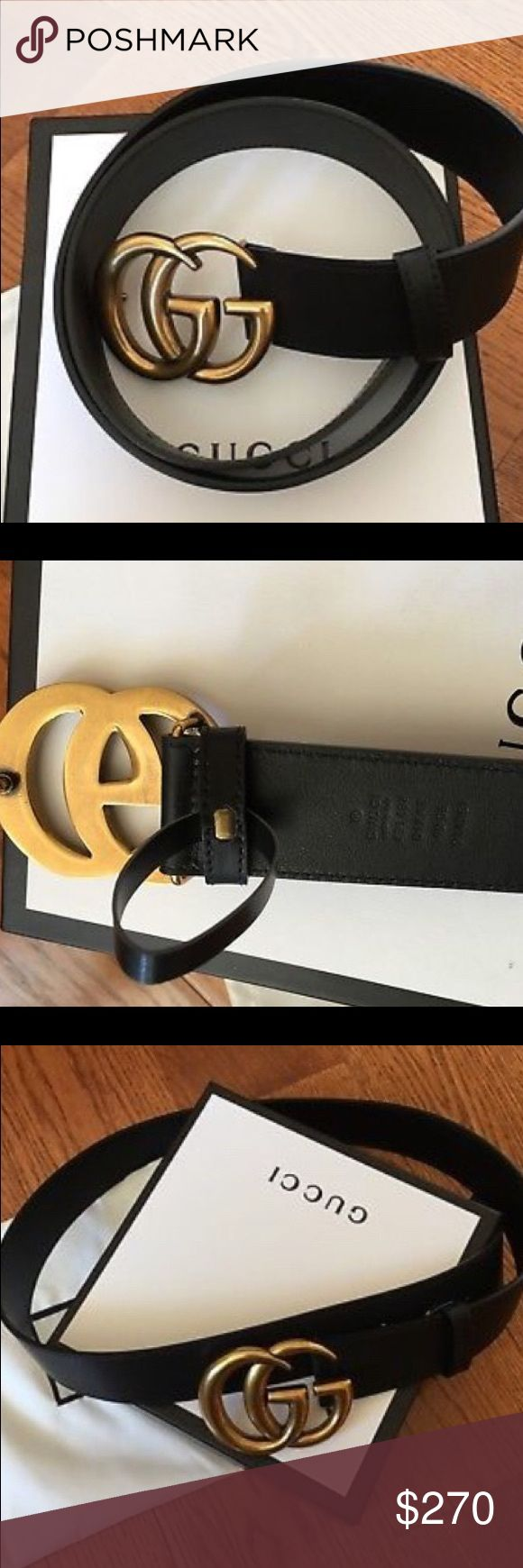 Gucci belt Black Gucci belt, with gold buckle Gucci Other