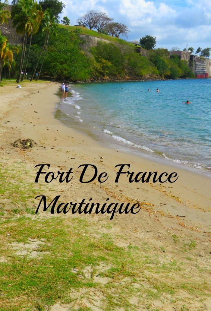 A beach close to Fort De France, Martinique.