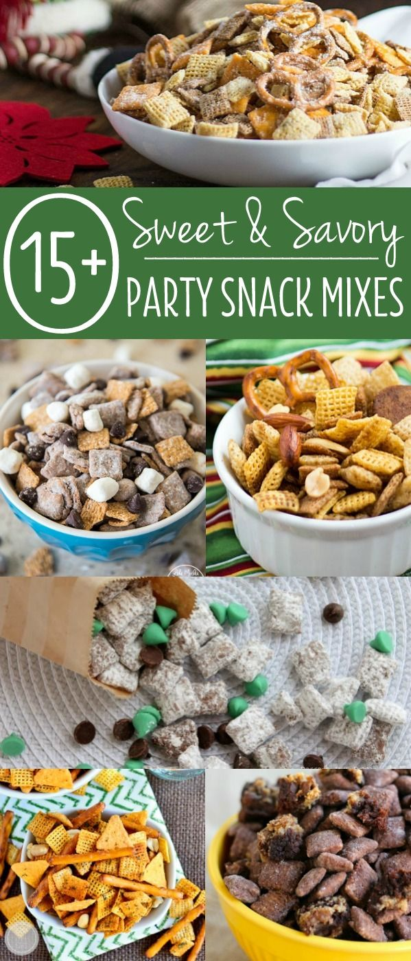 Here are more than 15 great muddy buddies, puppy chow, and Chex mix favorites to enjoy the next time you have the munchies. Whether it's the the holidays, a family get-together, movie night, or the big game, party snack mix recipes are a great thing to have up your sleeve.