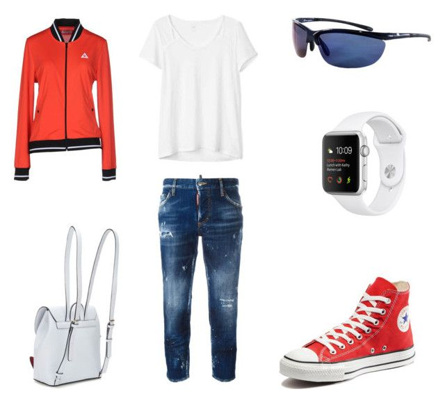 """Sport"" by teriaevaap on Polyvore featuring мода, Gap, Dsquared2, Converse, Le Coq Sportif и Champion"