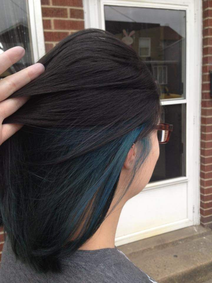 Blue black hair with grey highlights the best black hair 2017 bold blue highlights for your hair best color trends 2017 pmusecretfo Gallery