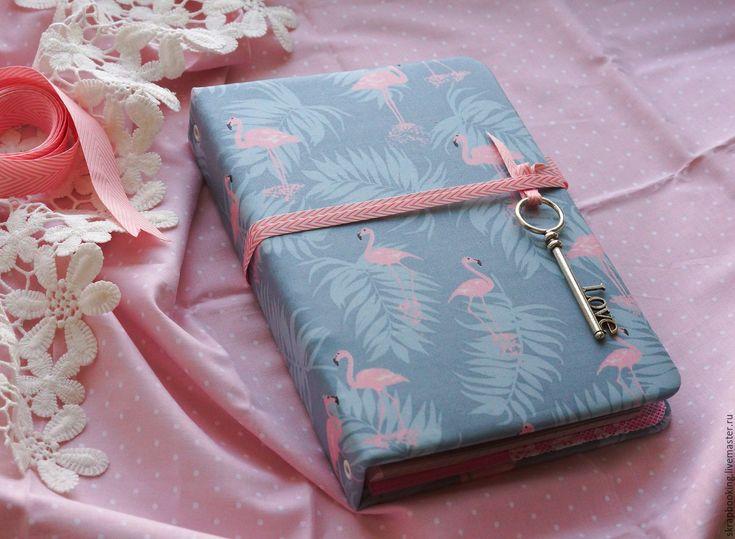 """Купить Блокнот-планнер """"Фламинго"""" - мятный, планер, ежедневник, ежедневник ручной работы, скрапбукинг блокнот"""