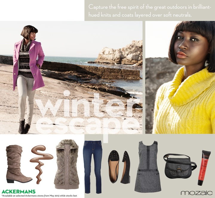 The Winter combinations of boots coats and knits ......mix and match for the warm feeling
