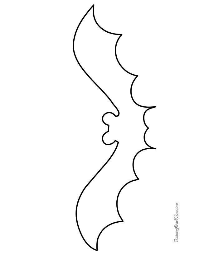 spooky bat coloring pages - photo#42
