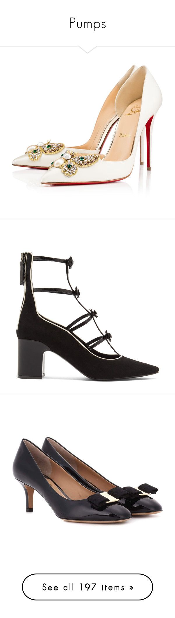 """""""Pumps"""" by ngkhhuynstyle ❤ liked on Polyvore featuring shoes, pumps, heels, christian louboutin, sapato, off white, high heel pumps, high heel court shoes, high heel shoes and special occasion shoes"""