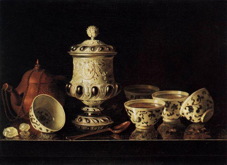 Stil leven met chinees porselein    Pieter Gerritsz. van Roestraeten (Haarlem, 1630 - Londen, 1700) was een Nederlands kunstschilder en tekenaar uit de periode van de Gouden Eeuw. Hij vervaardigde genrestukken en portretten, waar werd vooral vermaard om zijn stillevens.