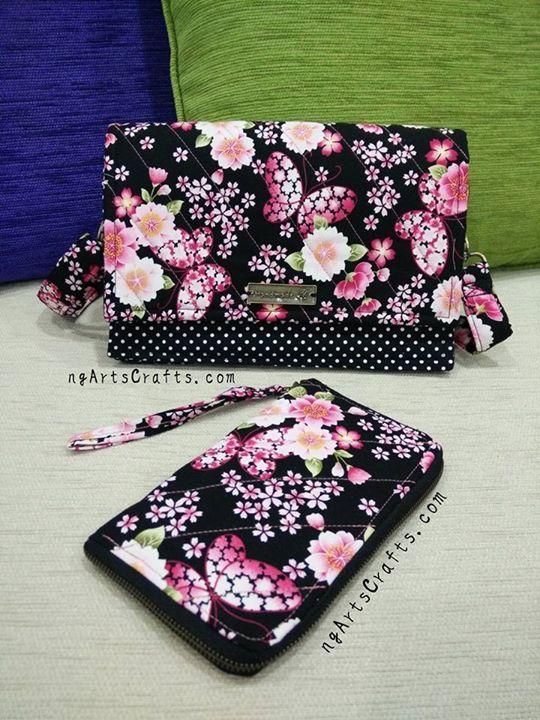 Handmade Shoulder Bag & Handmade Mobile Phone Holder