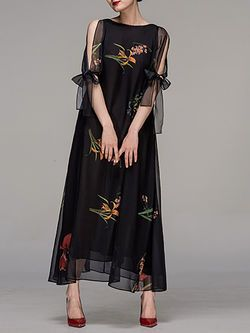 Floral-print Chiffon #Maxi #Dress