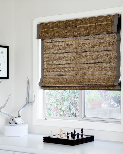 natural woven flat fold shades 12837 house pinterest