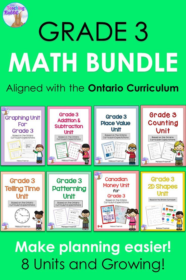 grade 3 math units full year bundle  based on the ontario