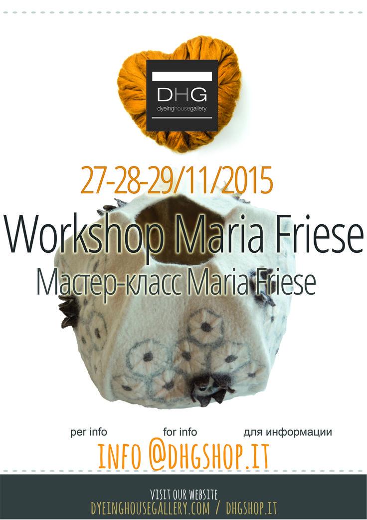 Workshop by Maria Friese in DHG! 27/28/29 november 2015. Sculpture Vases.