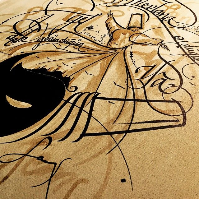 1000 Images About Calligraphy Mevlana On Pinterest