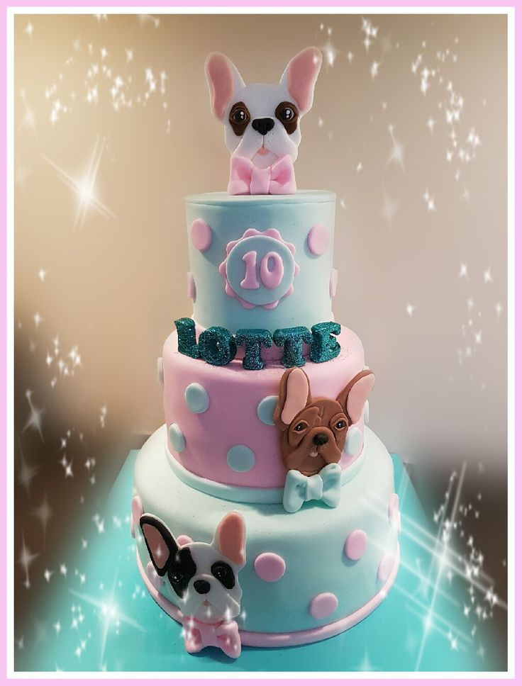 French bulldog cake