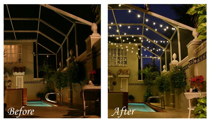 Pool Lighting Before And After : Best lanai lighting images on pinterest pool