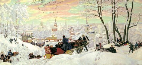Boris Kustodiev, Pancake Tuesday (Maslenitsa) 1916 on ArtStack #boris-kustodiev #art