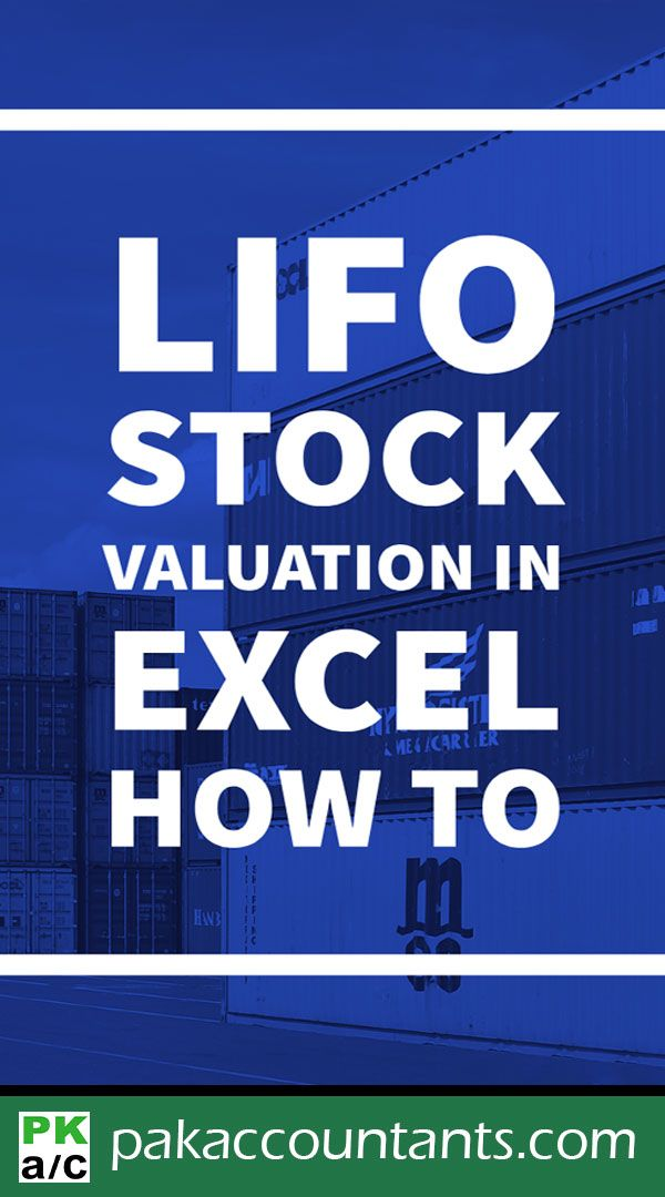 LIFO Inventory Valuation in Excel using Data Tables - How To