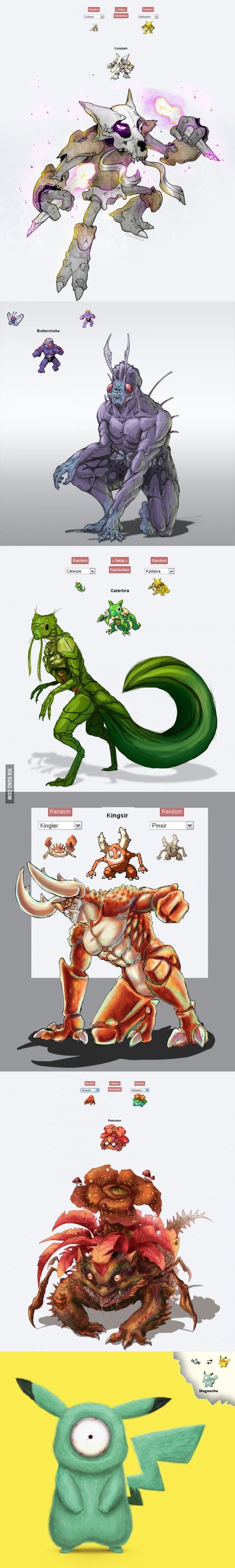 Pokemon fusions coming to life
