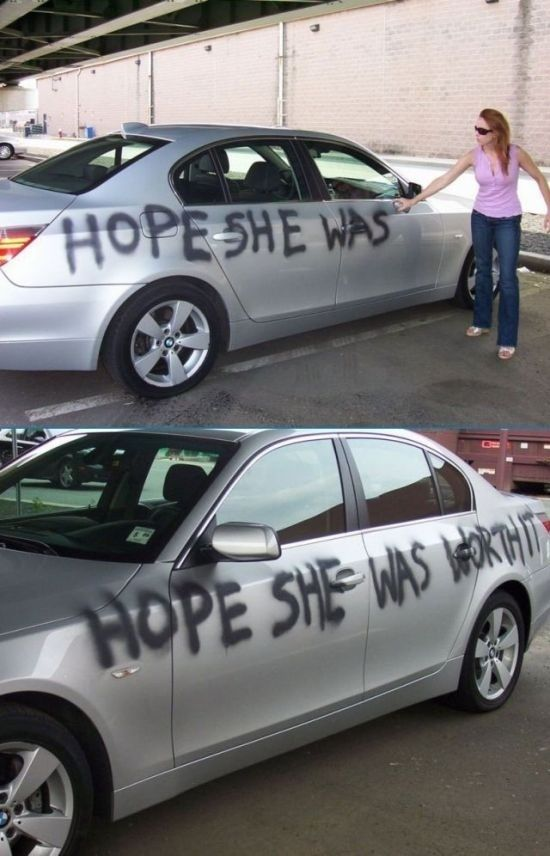 When graffiti was the best way to say goodbye. | 21 Times When Revenge Was Totally Worth It