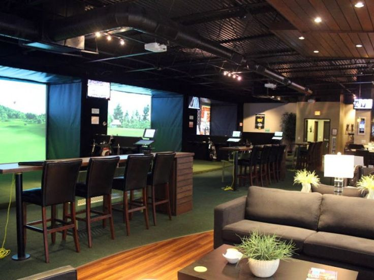 81 Best Great Indoor Golf Rooms. Images On Pinterest | Golf Room, Golf  Simulators And Basement Ideas