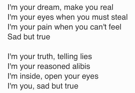 Sad but True- Metallica lyrics | Artists / Bands / Songs ... Sad Lyrics