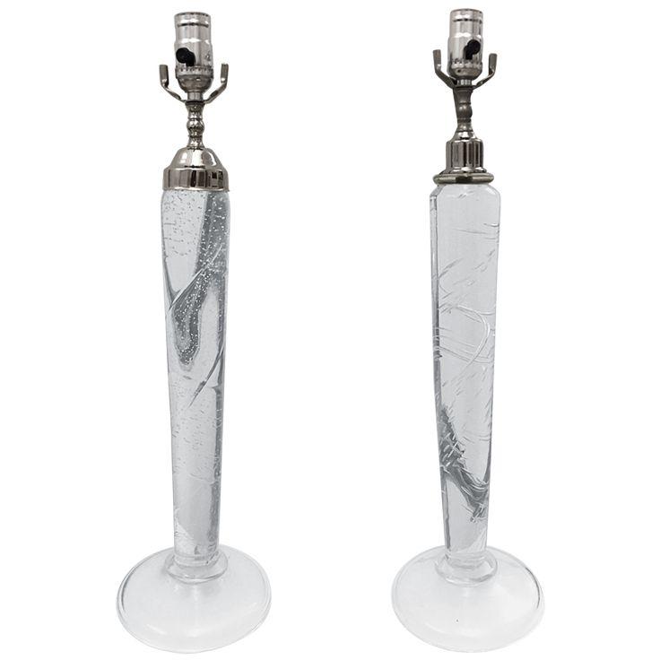 Donghia Murano Clear Glass Lamps Set $3000/1500 Viyet