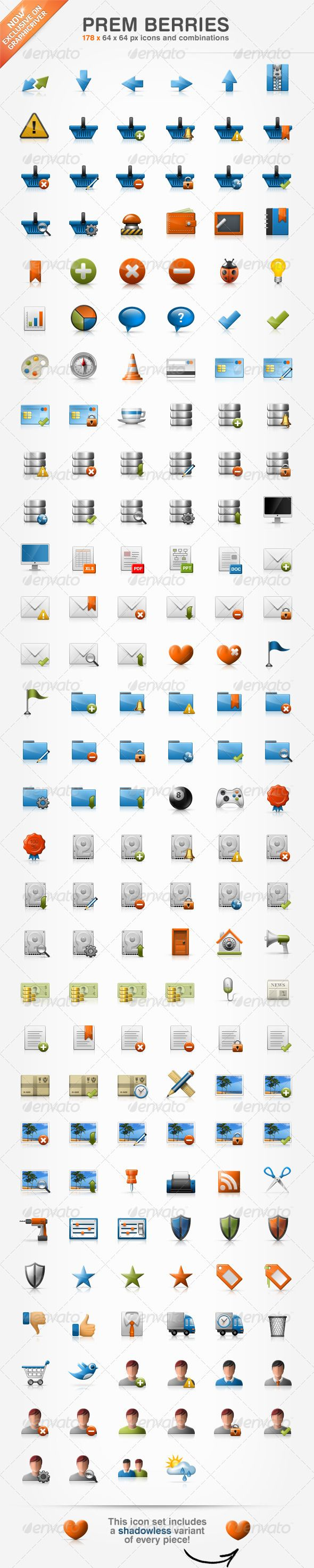 Prem Berries Set  178 Icons — Transparent PNG #transport #folder • Available here → https://graphicriver.net/item/prem-berries-set-178-icons/316844?ref=pxcr